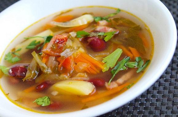Рассольник с фасолью на зиму - рецепт с пошаговыми фото
