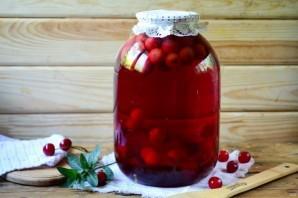 Компот из вишни на зиму с лимонной кислотой - рецепт приготовления с фото