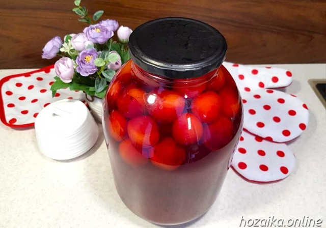 Компот из алычи на зиму - 15 рецептов простых с пошаговыми фото
