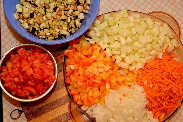 Икра из кабачков и баклажанов без стерилизации на зиму - рецепт с пошаговыми фото
