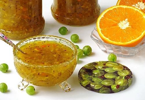 Крыжовник без варки с апельсином на зиму - 5 рецептов с пошаговыми фото
