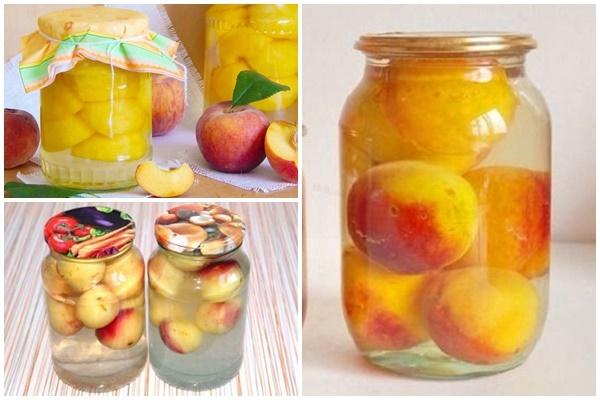 Компот из персиков без стерилизации на зиму - 17 рецептов в банках на 3 литра с пошаговыми фото