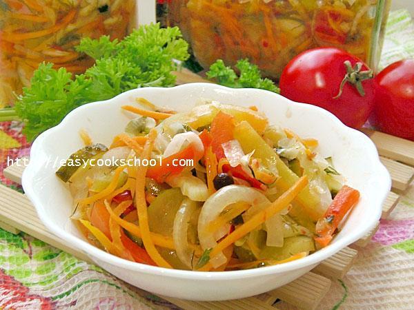 Салат Кубанский с помидорами на зиму - рецепт с пошаговыми фото
