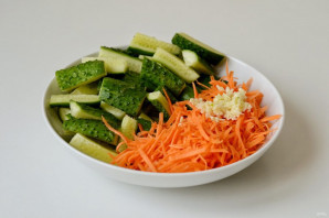 Огурцы по-корейски на зиму без моркови - пошаговый рецепт