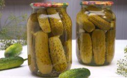 Засолка огурцов в литровых банках на зиму - 17 рецептов хрустящих огурцов с пошаговыми фото