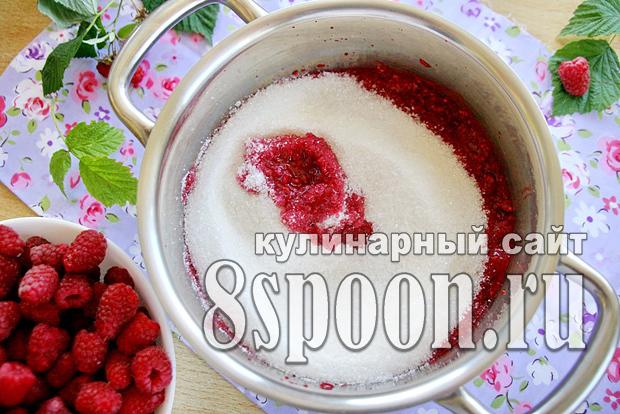 Малина толченая с сахаром на зиму - простой и вкусный рецепт с пошаговыми фото