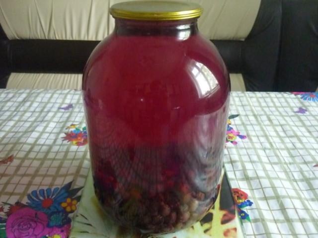 Компот из черного винограда с апельсином на зиму - простой пошаговый рецепт