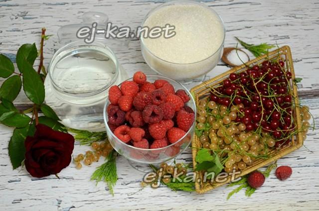 Компот из малины и черной смородины на зиму - рецепт приготовления с пошаговыми фото