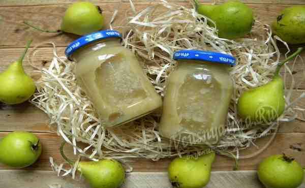 Грушевое пюре для грудничка на зиму - пошаговый рецепт с фото
