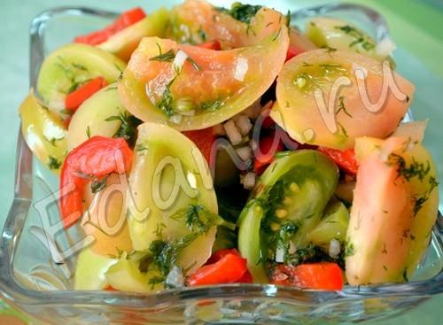 Салат из недозрелых помидор на зиму - пошаговый рецепт с фото