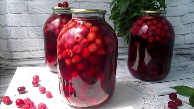 Малиновый компот с мятой на зиму - рецепт с пошаговыми фото
