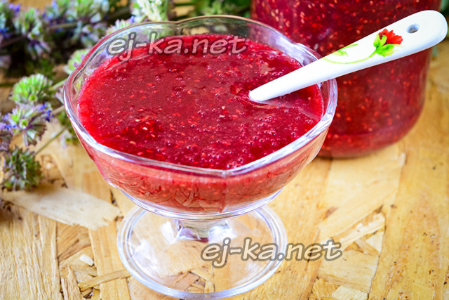 Малина протертая без варки с сахаром на зиму - 16 рецептов через блендер с пошаговыми фото