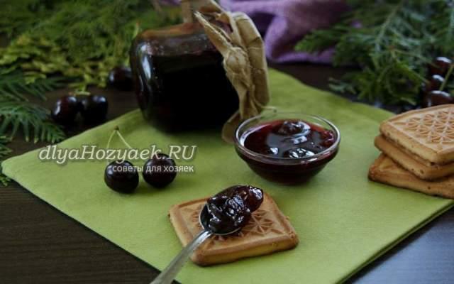 Варенье-пятиминутка из черешни без косточек на зиму - 12 рецептов густого варенья с пошаговыми фото
