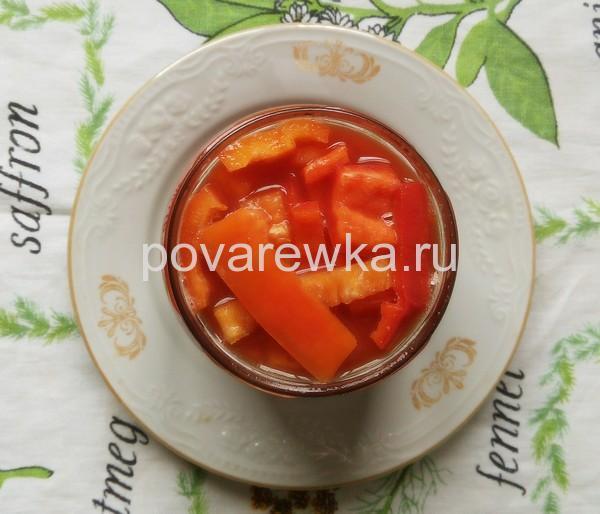 Салат из перца в томате на зиму - 80 рецептов пальчики оближешь с пошаговыми фото