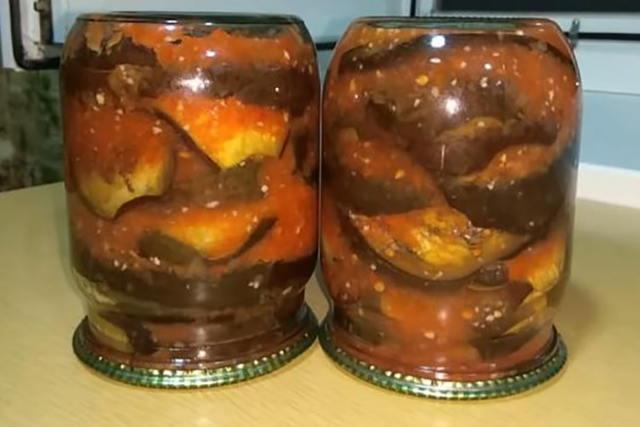 Салат из баклажанов на зиму «Тёщин язык» - рецепт с фото пошагово