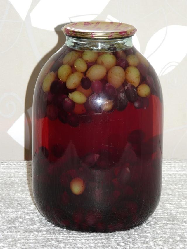 Компот из винограда на зиму - 52 рецепта в банках с пошаговыми фото