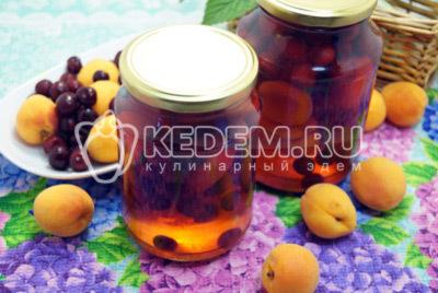 Компот из вишни и абрикосов на зиму - рецепт с пошаговыми фото