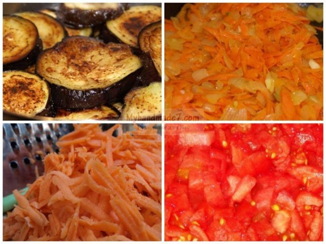 Жареные баклажаны на зиму - рецепт приготовления с пошаговыми фото