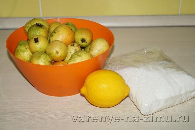 Грушевое варенье дольками с лимоном на зиму - простой пошаговый рецепт