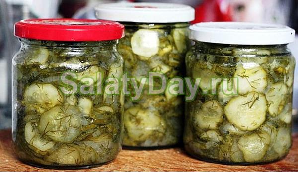Салат Нежинский из огурцов на зиму - 5 рецептов с фото пошагово