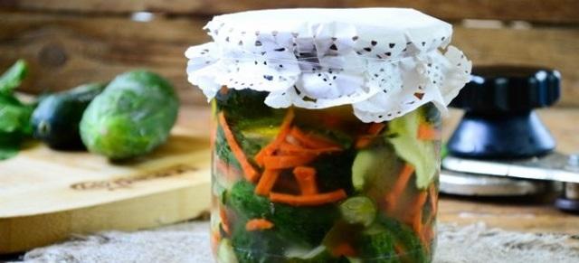 Огурцы по-корейски на зиму без стерилизации - пошаговый рецепт