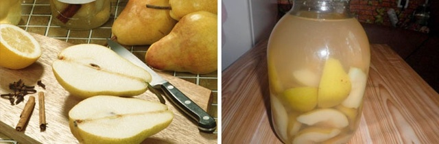 Компот из слив и груш на 1 литровую банку на зиму - пошаговый рецепт с фото