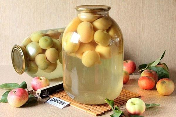 Компот из яблок белый налив на зиму - рецепт с пошаговыми фото