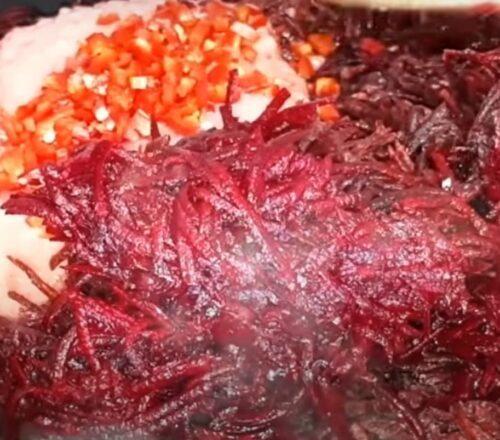 Салат из свеклы на зиму - рецепт приготовления с пошаговыми фото