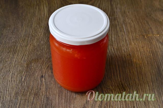 Томатный сок в блендере на зиму - простой пошаговый рецепт