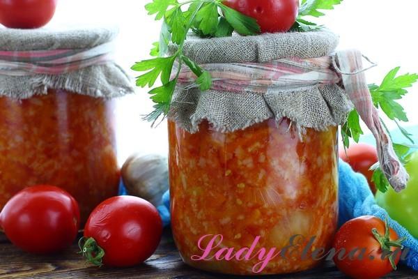 Салат из помидоров и риса на зиму - рецепт с пошаговыми фото