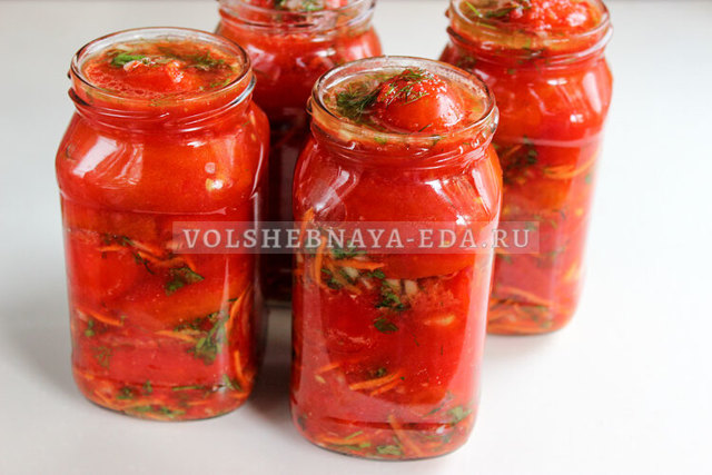 Обалденные помидоры по-корейски на зиму - рецепт с пошаговыми фото