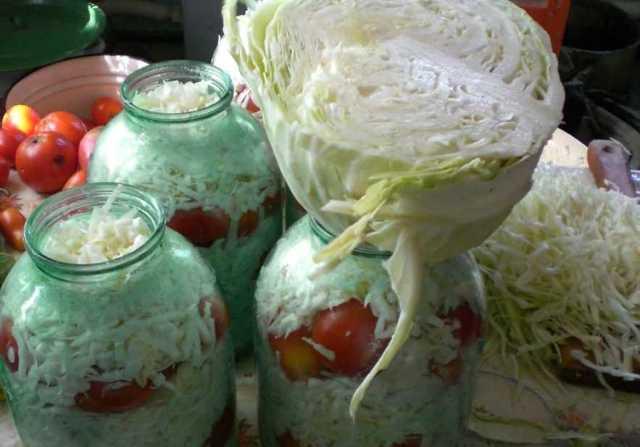 Помидоры с капустой засолка на зиму - рецепт с пошаговыми фото