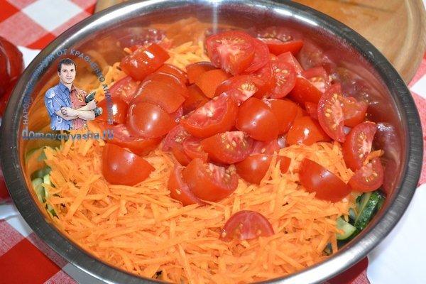 Салат Кубанский с капустой и перцем болгарским на зиму - рецепт с пошаговыми фото