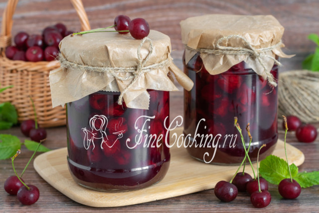 Варенье-пятиминутка из вишни с желатином на зиму - рецепт с пошаговыми фото