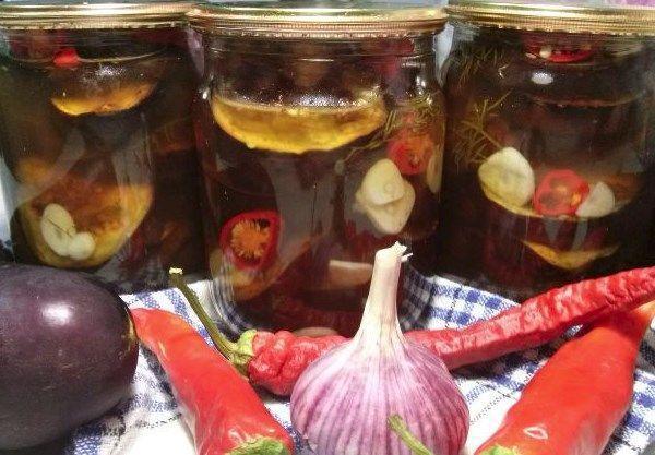 Баклажаны на зиму с чесноком - простой пошаговый рецепт