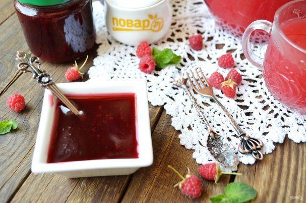 Джем из малины на зиму - рецепт приготовления с пошаговыми фото