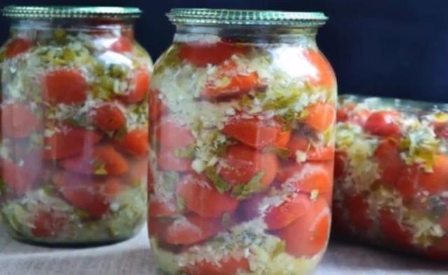 Маринованный перец в масле с чесноком на зиму - простой рецепт без стерилизации с пошаговыми фото