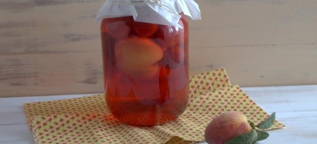 Компот из нектаринов и апельсинов на зиму - простой пошаговый рецепт