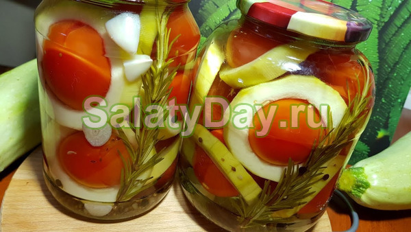 Салат из кабачков, помидоров и болгарского перца на зиму - рецепт с пошаговыми фото