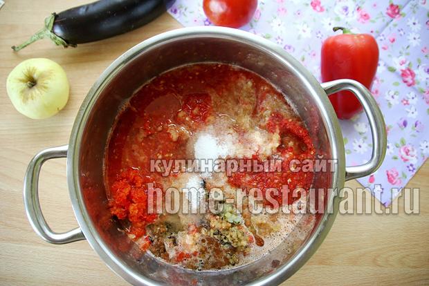 Аджика из баклажанов на зиму через мясорубку - простой пошаговый рецепт