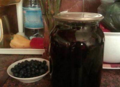 Черничный компот на 3 литра на зиму в банках - рецепт с пошаговыми фото