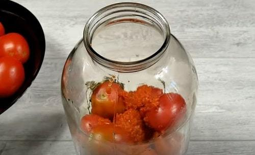 Сладкие маринованные помидоры с семенами горчицы на зиму - рецепт с пошаговыми фото