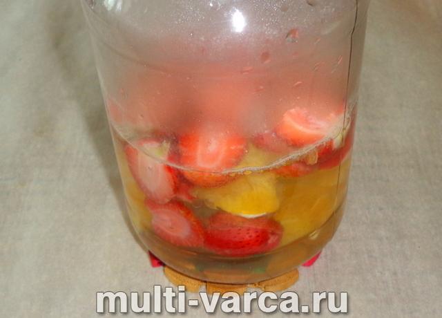 Компот из клубники с апельсином на зиму - рецепт с пошаговыми фото
