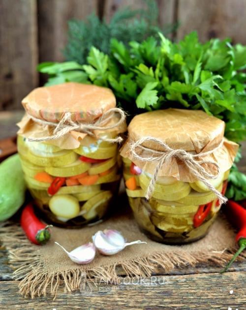 Салат из кабачков «Нежность» на зиму - рецепт с фото пошагово